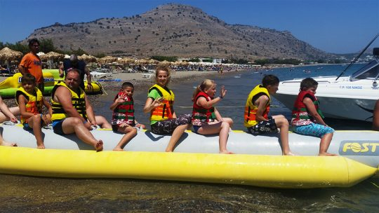 Banana Boat at Rodos Water Sports Action in Lardos - Lindos - Rhodes