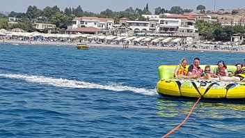 Crazy sofa at Rodos Water Sports Action in Lardos - Lindos - Rhodes