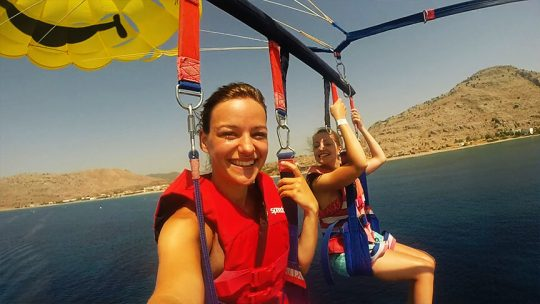 Parasailing in Rhodes