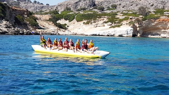 Safari Banana Boat at Rodos Water Sports Action in Lardos - Lindos - Rhodes